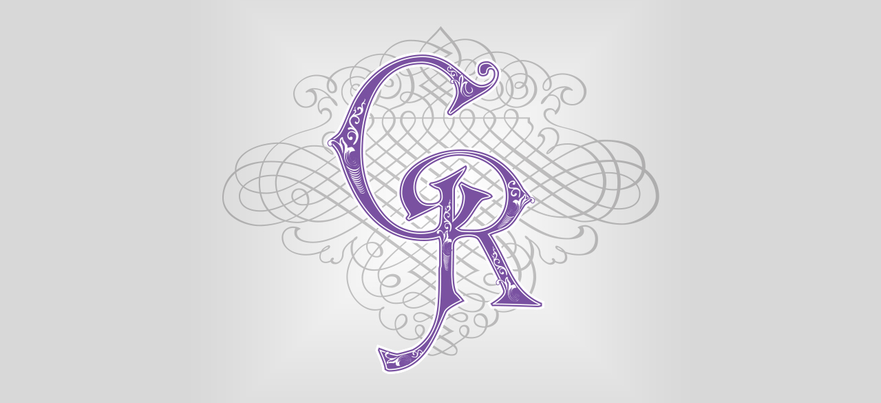 CR Wedding Monogram logo design