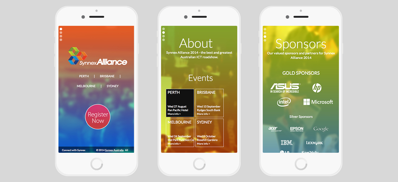Synnex Alliance 2014 responsive event microsite